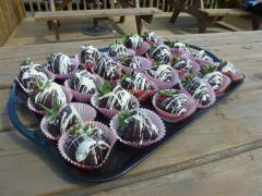 Chocolate Dipped Strawberries,Greens Berry Farm Wexford Ireland