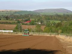 Rotovating at Greens Berry Farm Gorey, Wexford, Ireland, Irish Fruit Farm