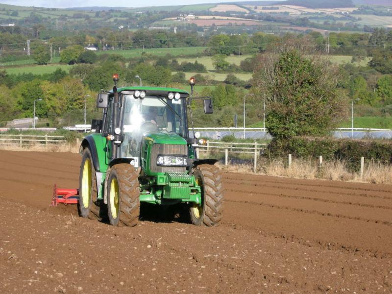 John Deere at Greens Berry Farm Gorey, Wexford, Ireland, Irish Fruit Farm