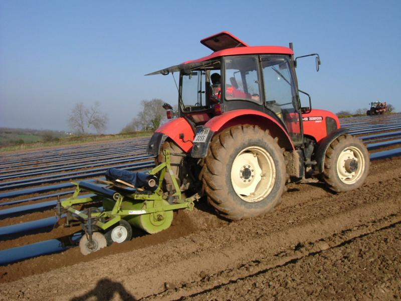 Making Strawberry Beds at Greens Berry Farm Gorey, Wexford, Ireland, Irish Fruit Farm