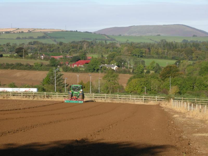 Rotovating at Greens Berry Farm Gorey, Wexford, Ireland, Irish Fruit Farm