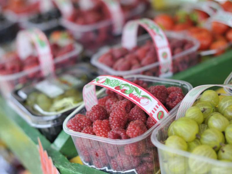 Fresh Berries Irish Fruit at Greens Berry Fruit Farm Gorey Wexford Ireland