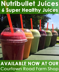 Nutri bullet juices available now at courtown farm shop